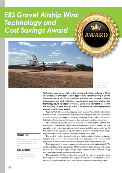 EBS Gravel Airstrip wins Technology and Cost Savings Award
