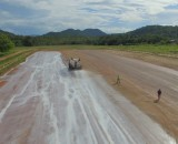 EBS Soil Stabilizer application to gravel airstrip