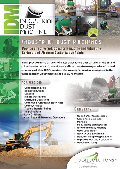Ondustrial Dust machine brochure