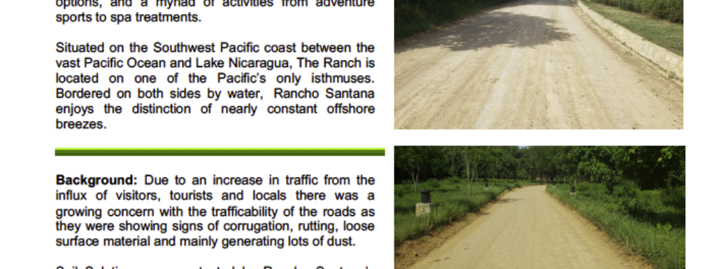 Rancho Santana- Gravel Road Upgrade